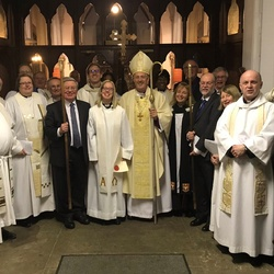Rev Frances Arnold licensed by the Bishop of Southwark