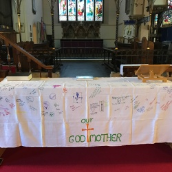 Mothering Sunday, congregation designed, alter cloth!
